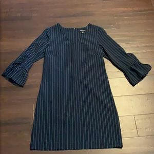 Navy and white pin striped dress